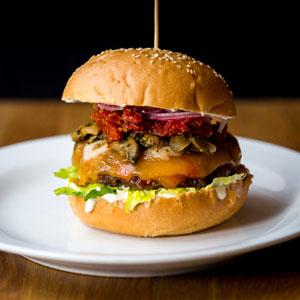 """Umami Burger """"umami fra parmesan, trøffel og miso"""" Den mest populære"""""""